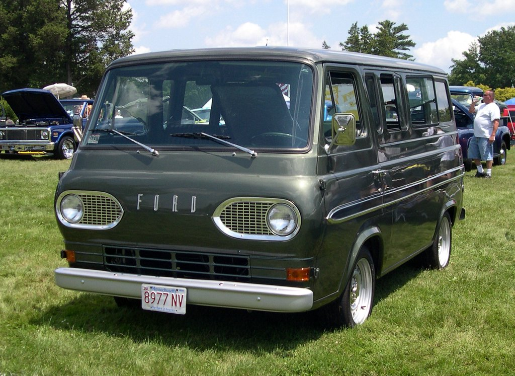A 1960s Ford van, similar to the…